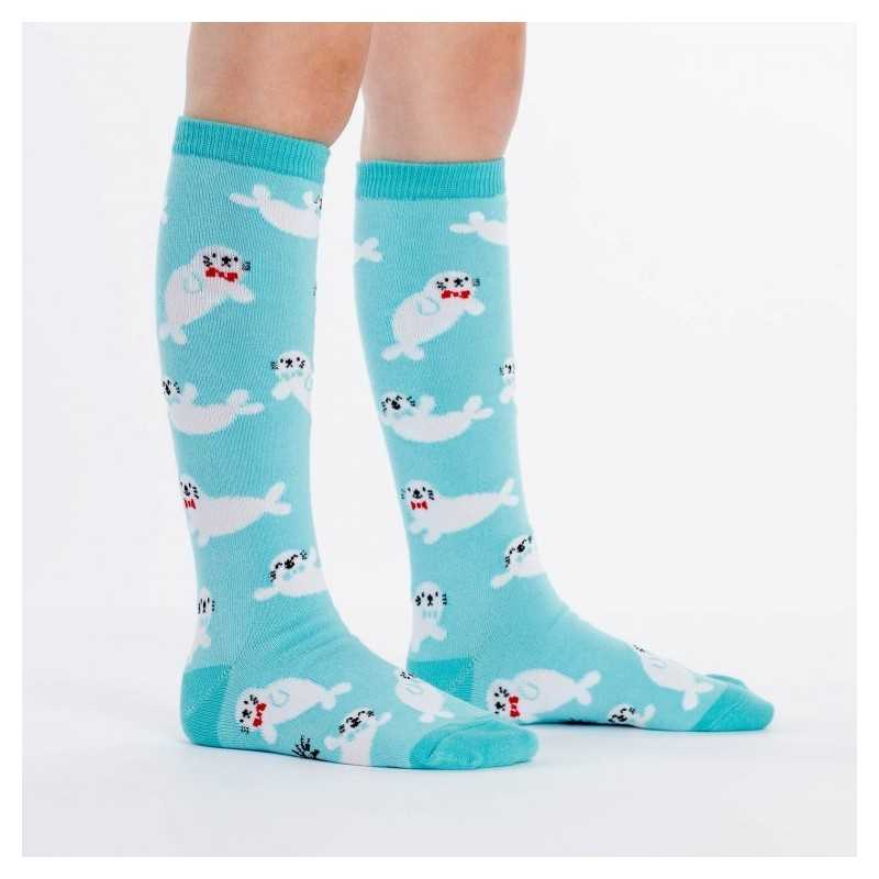 "Sock It To Me ""Baby Seals"" Kids Knee-high Socks"