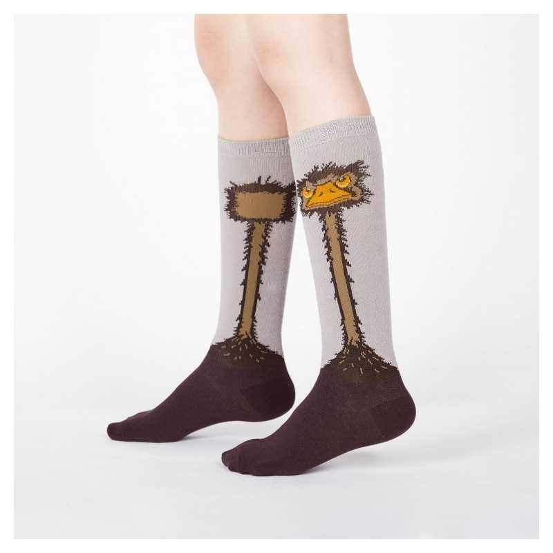 "Sock It To Me ""Ostrich"" Kids Knee-high Socks"