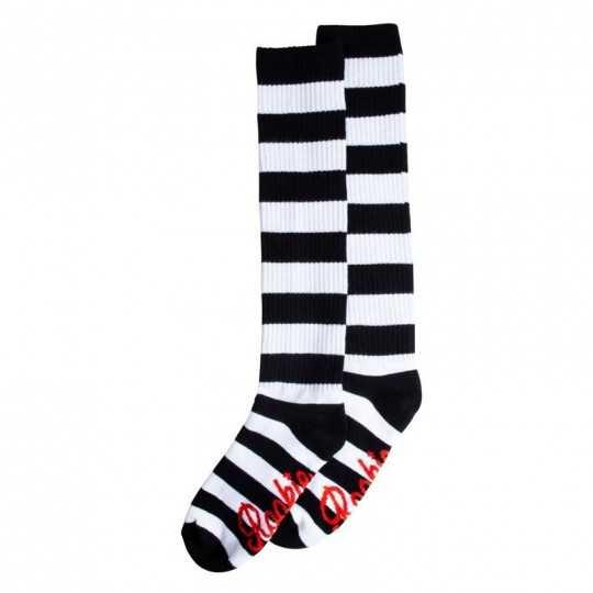 Rookie Black/White Strips Chaussettes Mi-bas