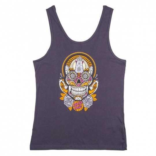 "Santa Cruz ""Sugar Skull"" T-Shirt Débardeur Femme"