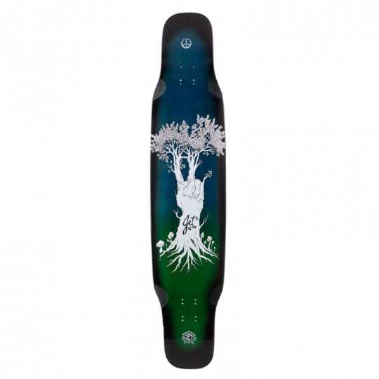 Jet Wild Thing Hippy Tree Longboard Deck