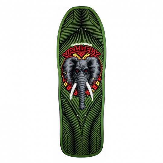 Powell Peralta Vallely Elephant Green Skateboard Deck