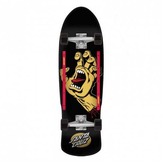 "Santa Cruz Scream Hand 9.42"" Black Cruiser"