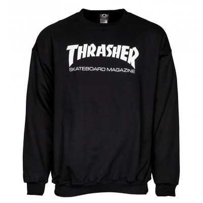 Trasher Skate Mag Black Crewneck