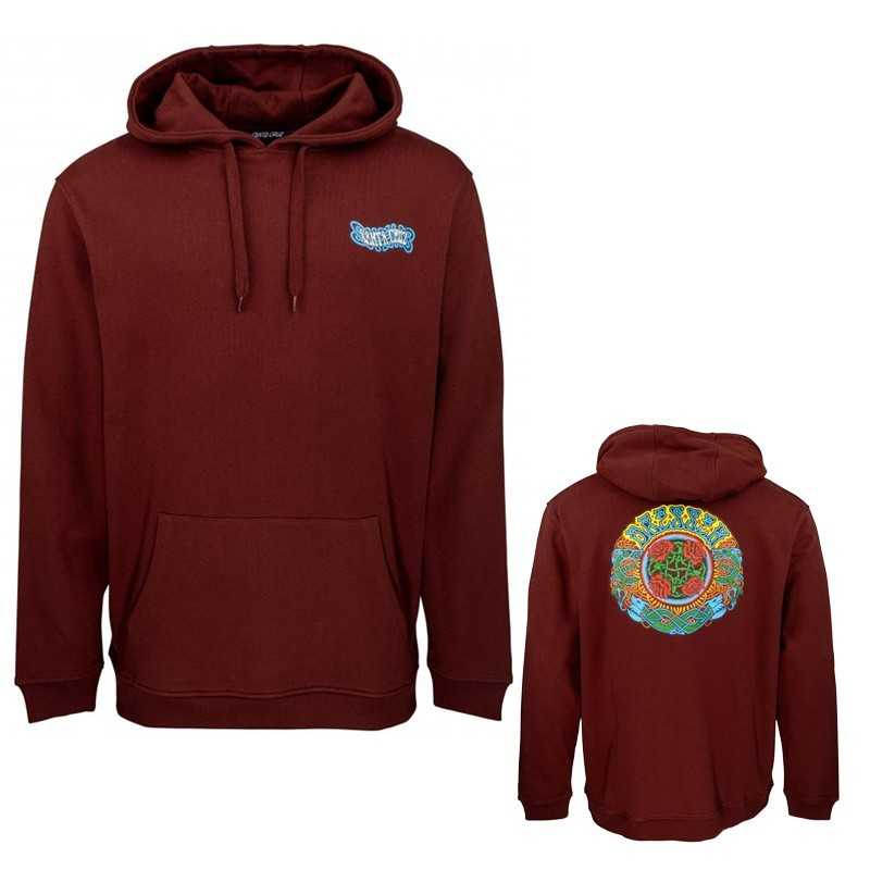 Santa Cruz Dressen Roses Sweat Capuche Rouge Brique
