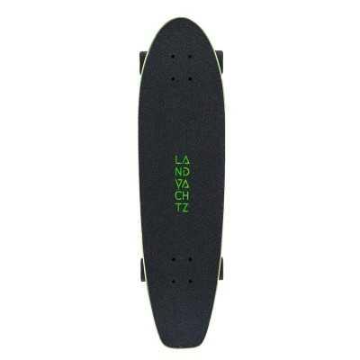 "Landyachtz Dugout 31.5"" Grey Skull Cruiser Skateboard"