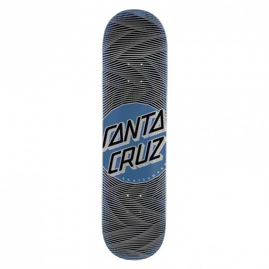 "Santa Cruz Vertigo Wavy Dot 8.25"" Wider Tip Plateau Skateboard"