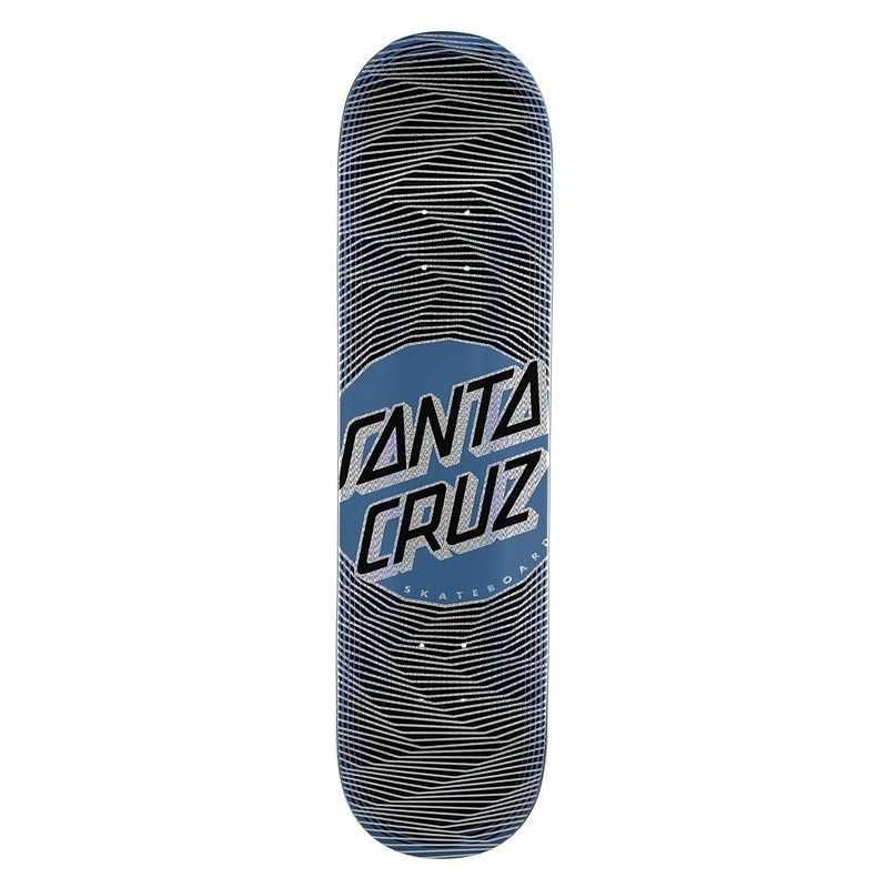 "Santa Cruz Vertigo Wavy Dot 8.25"" Wider Tip Skateboard Deck"