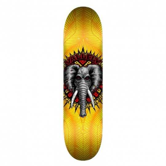 "Powell Peralta Vallely PP 8"" Yellow Plateau Skateboard"