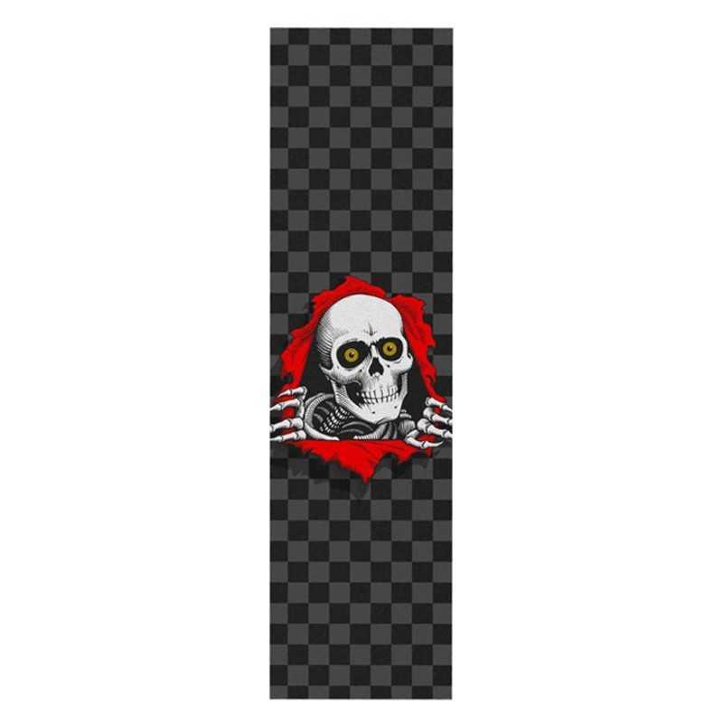 "Powell Peralta Ripper Checker Grey 9""x33"" Skateboard Griptape"