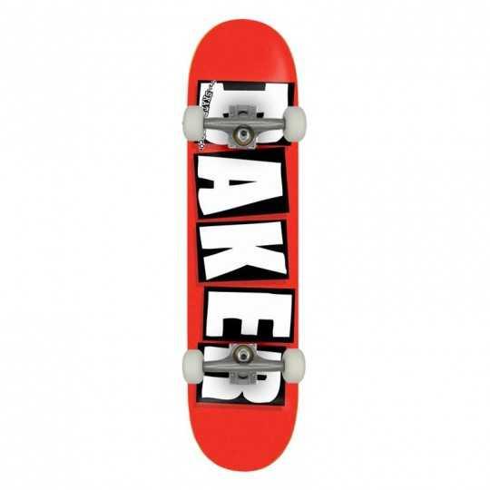 """Baker Brand Logo 8.125"""" Red/white Complete Skateboard"""