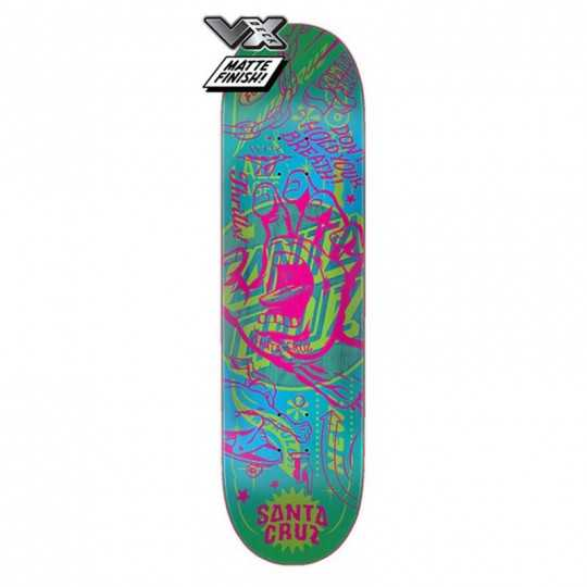 "Santa Cruz VX Flash Hand 8"" Skateboard Deck"