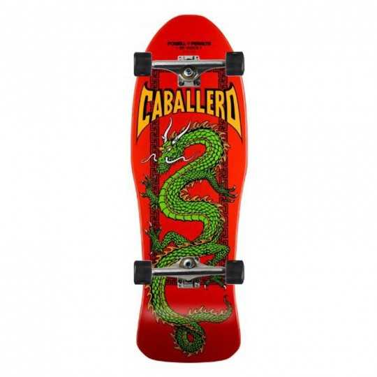 "Powell Peralta Caballero Chinese Dragon 10"" Red Skateboard Complet"