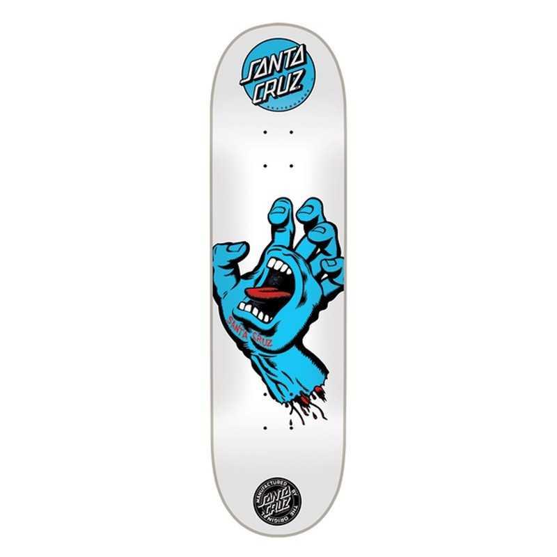 "Santa Cruz Screaming Hand 8"" Hand Skateboard Deck"