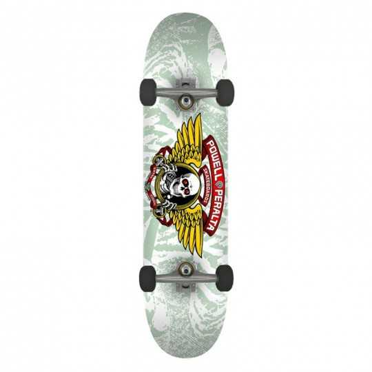 "Powell Peralta Winged Ripper PP 8"" White Complete Skateboard"