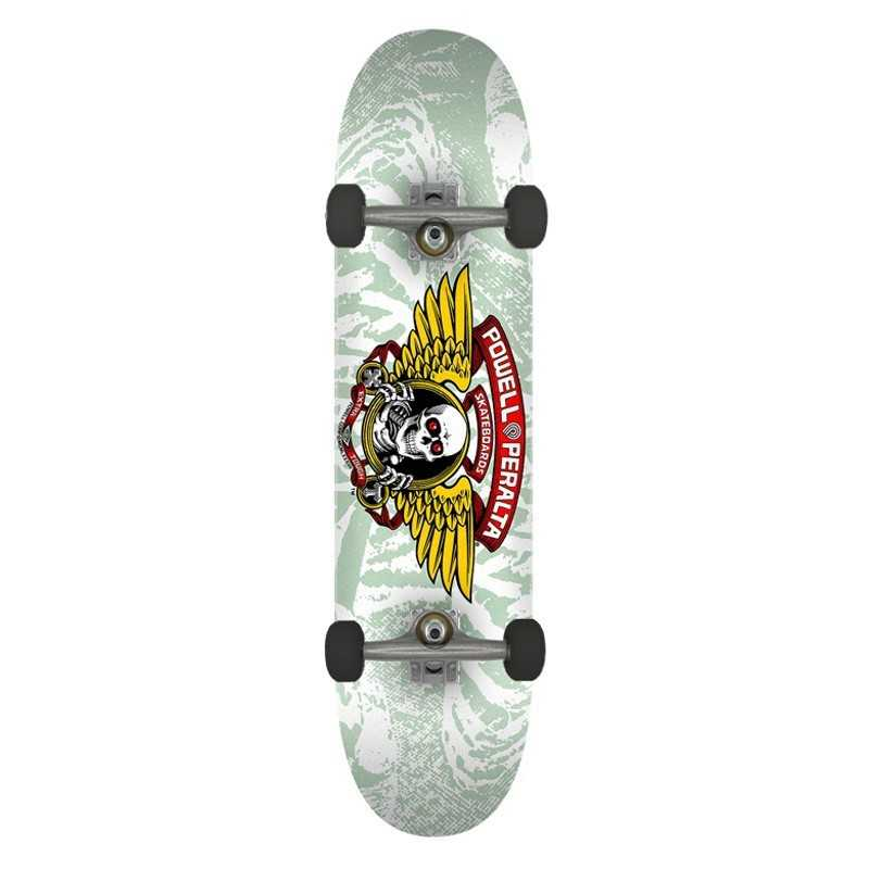 "Powell Peralta Winged Ripper PP 8"" White Skateboard Complet"
