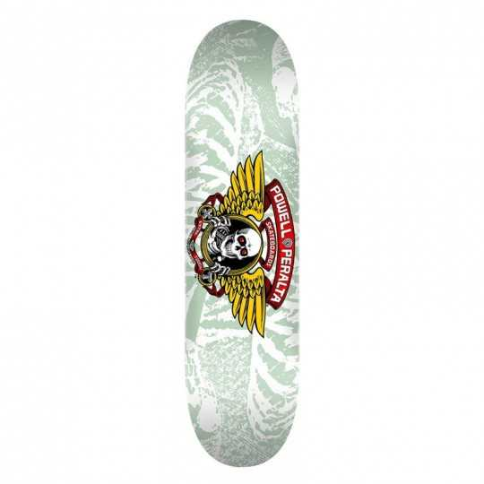 "Powell Peralta Winged Ripper PP 8"" White Plateau Skateboard"