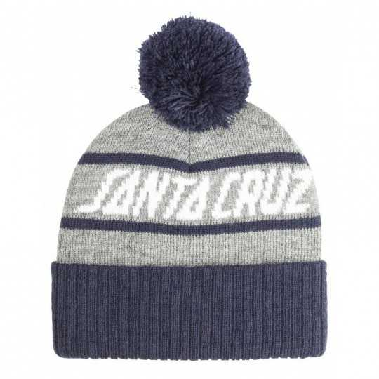 "Santa Cruz ""Strip Stripe"" Navy/ Heather Beanie"