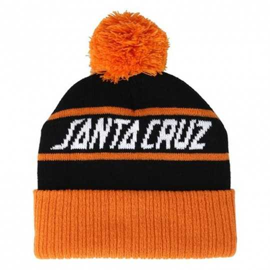 "Santa Cruz ""Strip Stripe"" Black/ Tangerine Beanie"