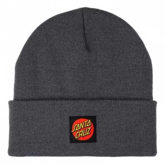 "Santa Cruz ""Classic Label Dot"" Grey Beanie"