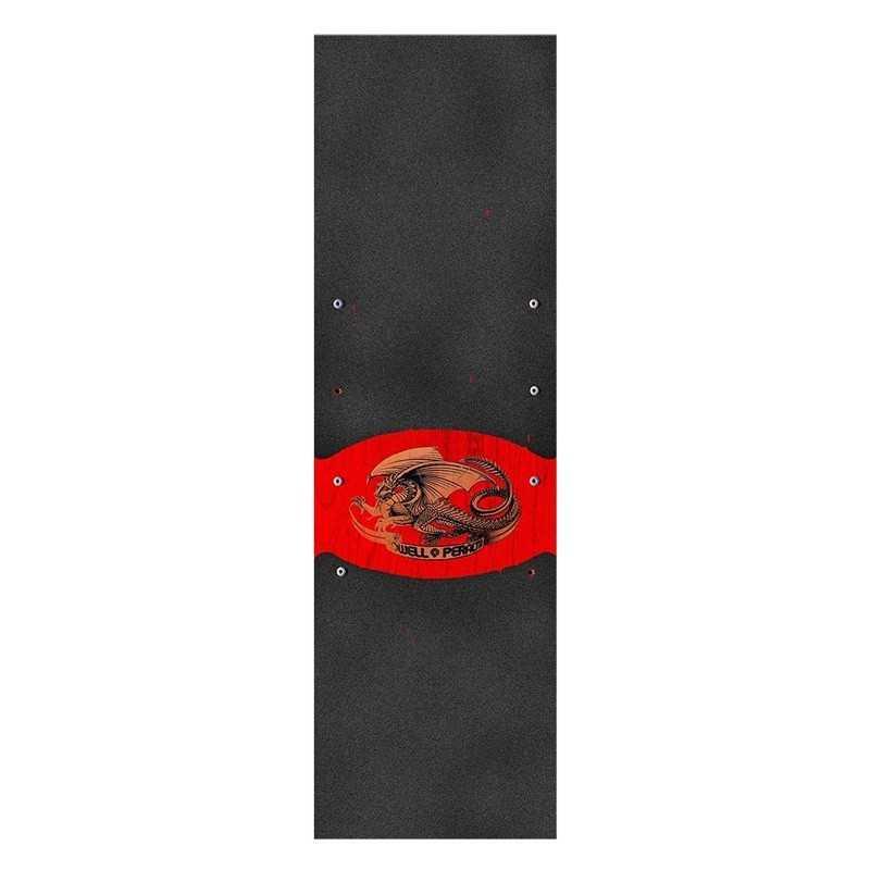 "Powell Peralta Oval Dragon Black 9""x33"" Skateboard Griptape"