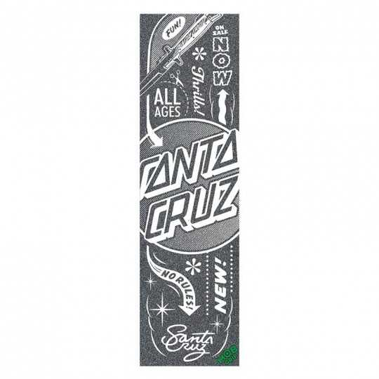 "Santa Cruz / MOB Flash Dot 9""x33"" Grip Skateboard"