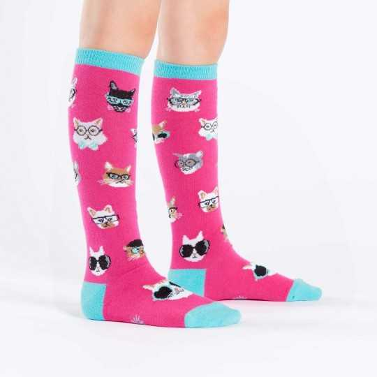 "Sock It To Me ""Smarty Cats"" Kids Knee-high Socks"