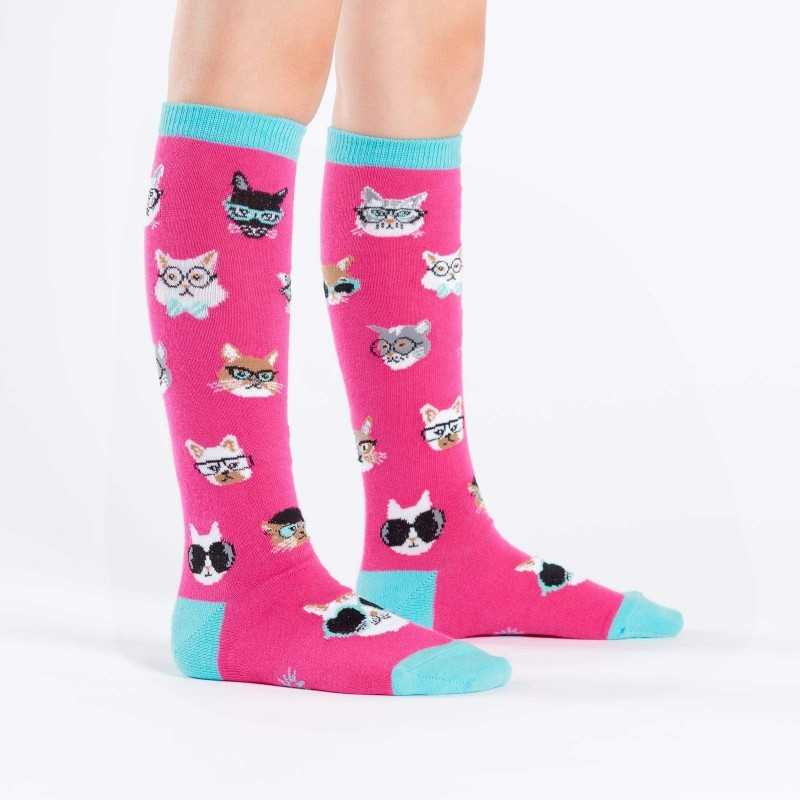 "Sock It To Me ""Smarty Cats"" Chaussettes Mi-bas Enfants"