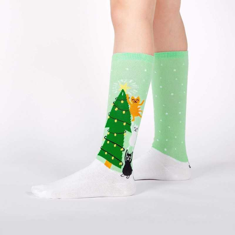 "Sock It To Me ""Naughty or Nice?"" Kids Knee-high Socks"