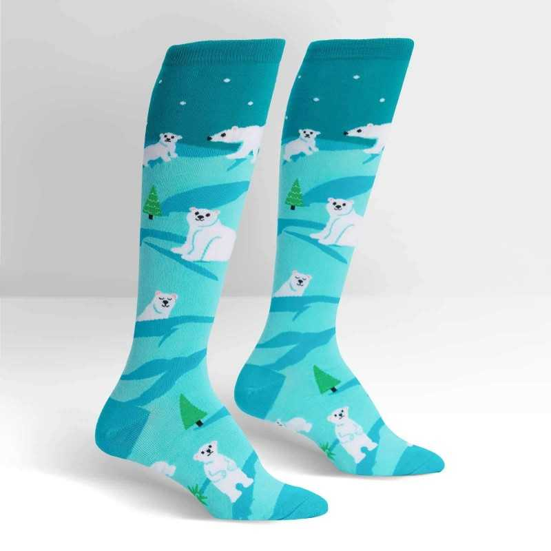 "Sock It To Me ""Polar Bear Stare"" Knee-high Socks"