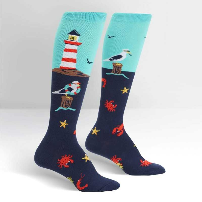 "Sock It To Me ""Lighthouse"" Knee-high Socks"
