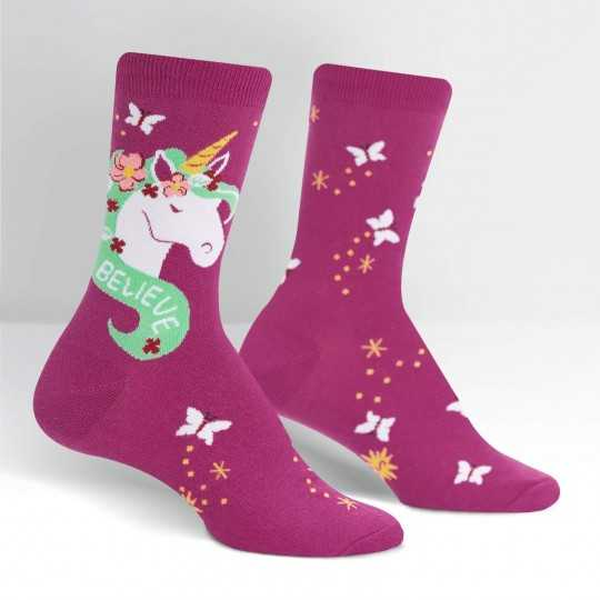 "Sock It To Me ""Believe in Magic"" Women's Crew Socks"