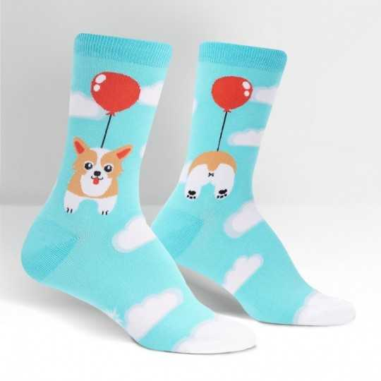 "Sock It To Me ""Pup, Pup, and Away"" Chaussettes Femmes"