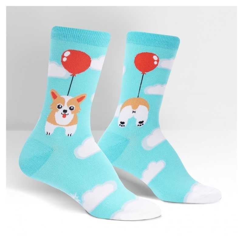 "Sock It To Me ""Pup, Pup and Away"" Women's Crew Socks"