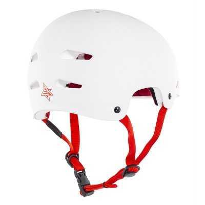 Rekd Elite White/ Red Helmet