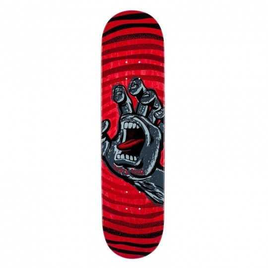 "Santa Cruz Off Hand 8.125"" Red Plateau Skateboard"