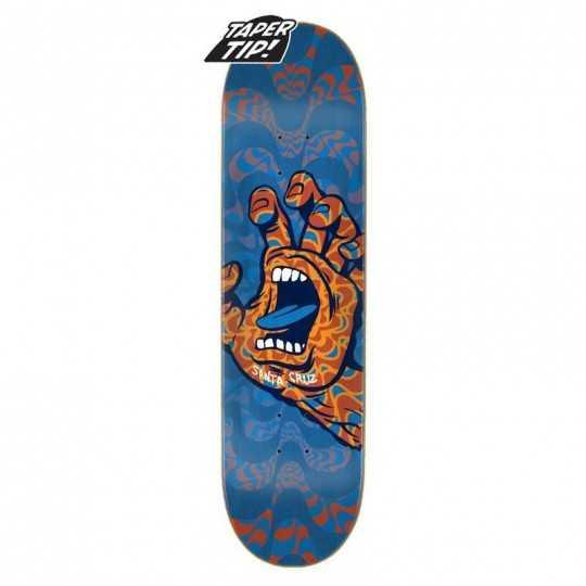 "Santa Cruz Kaleidohand 8"" Taper Tip Skateboard Deck"
