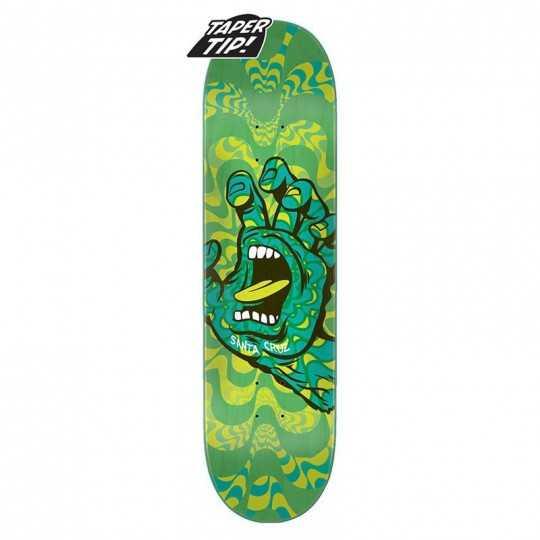 "Santa Cruz Kaleidohand 8.25"" Taper Tip Skateboard Deck"