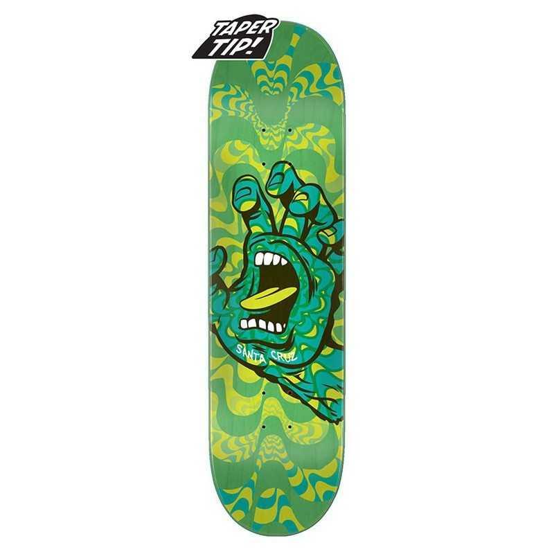 "Santa Cruz Kaleidohand 8.25"" Taper Tip Plateau Skateboard"