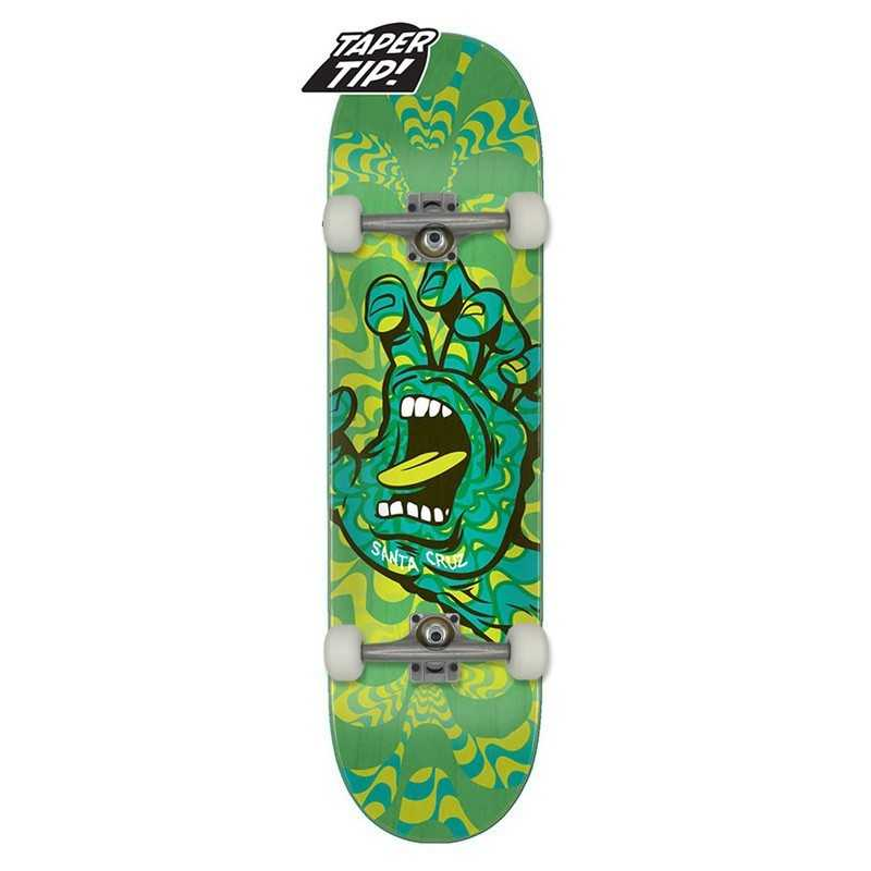 "Santa Cruz Kaleidohand 8.25"" Taper Tip Complete Skateboard"