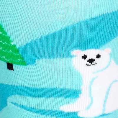 "Sock It To Me ""Polar Bear Stare"" Knee-high Socks"