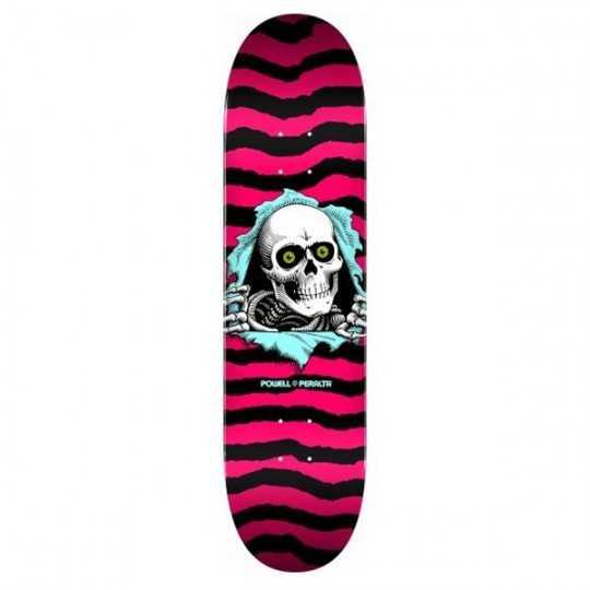 "Powell Peralta PS Ripper 8"" Hot Pink Plateau Skateboard"