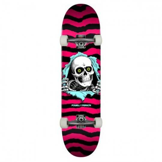 "Powell Peralta PS Ripper 8"" Hot Pink Skateboard Complet"