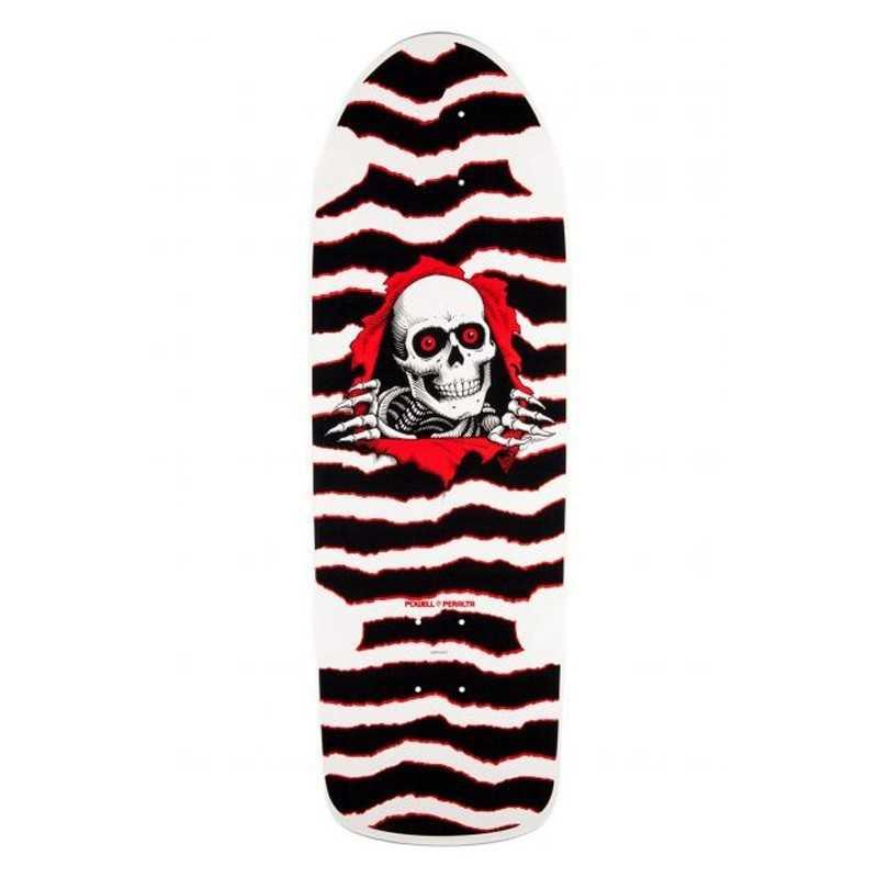 """Powell Peralta OG Ripper 10"""" White/Red Plateau skateboard"""