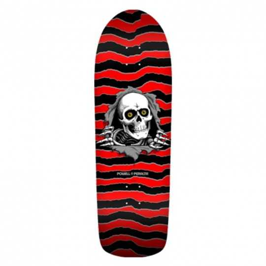 "Powell Peralta Old School Ripper Red/Black 10"" Plateau Skateboard"