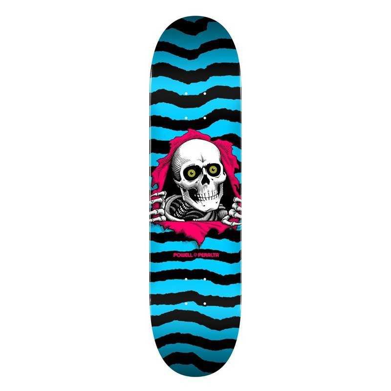 """Powell Peralta PS Ripper 8.25"""" Aqua Skateboard Deck"""