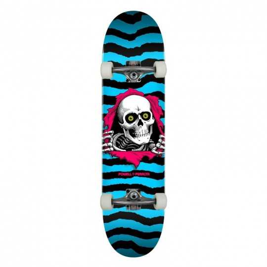 "Powell Peralta PS Ripper 8.25"" Aqua Complete Skateboard"