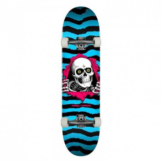 """Powell Peralta PS Ripper 8.25"""" Aqua Skateboard Complet"""