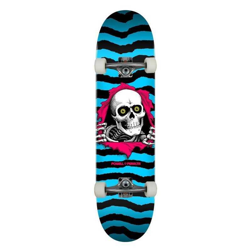"""Powell Peralta PS Ripper 8.25"""" Aqua Complete Skateboard"""