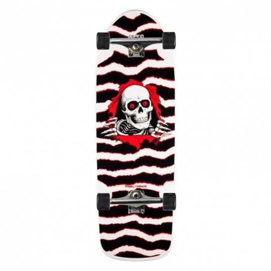 "Powell Peralta OG Ripper 10"" White/Red Skateboard Complet"